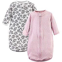 Hudson Baby® Size 3-9M 2-Pack Toile Wearable Blankets in Pink