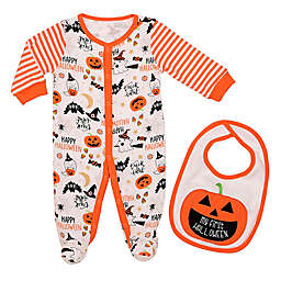Baby Starters® 2-Piece First Halloween Footie and Bib Set