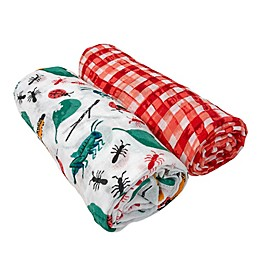 Bebe Au Lait® 2-Pack Bugs and Picnic Muslin Swaddle Blankets