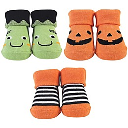 Hudson Baby® Size 0-9M 3-Pack Pumpkin and Monster Sock Gift Set