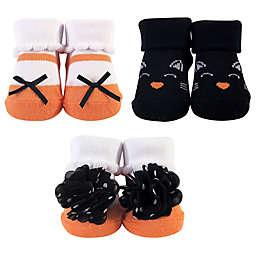 Hudson Baby® Size 0-9M 3-Pack Halloween Socks in Black