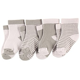 Luvable Friends® 4-Pack Crew Socks in Grey