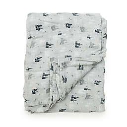 Loulou Lollipop Grey Castle Muslin Swaddle