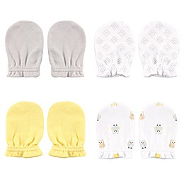 Luvable Friends Size 0-6M 4-Pack Owl Scratch Mittens