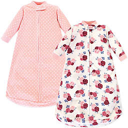 Hudson Baby® Size 0-9M 2-Pack Floral Wearable Blankets in Pink