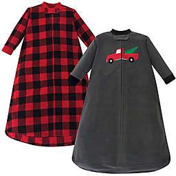 Hudson Baby® Size 0-9M 2-Pack Long Sleeve Christmas Truck Fleece Sleeping Bags in Grey