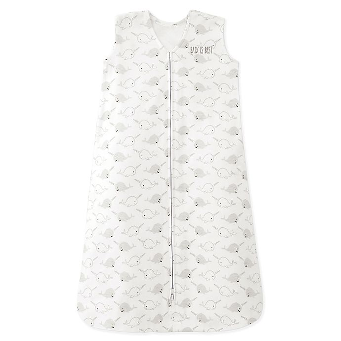 Alternate image 1 for HALO® SleepSack® Narwhal Wearable Blanket in Grey