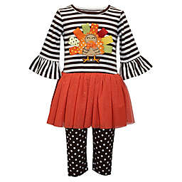 Blueberi Boulevard 2-Piece Turkey Dress and Legging Set