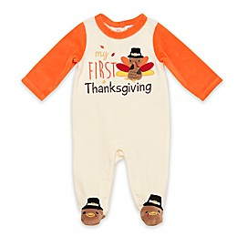 Baby Starters® First Thanksgiving Velour Sleep & Play in Ivory
