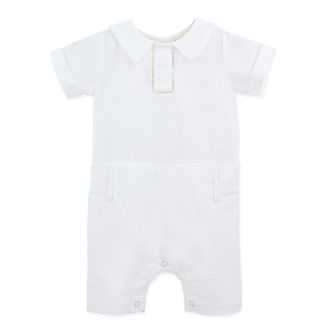 Alternate image 1 for Carriage Boutique™ Baptism Coverall in White