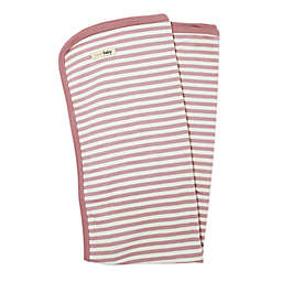 L'ovedbaby® Organic Cotton Swaddling Blanket in Mauve/Beige