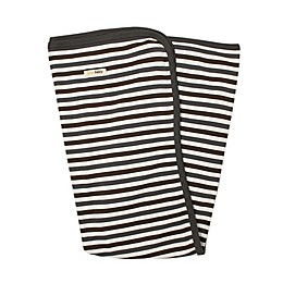L'ovedbaby® Organic Cotton Swaddling Blanket in Grey Stripe