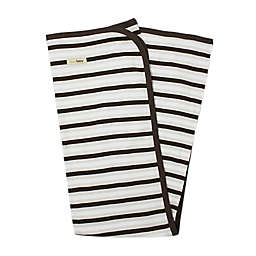L'ovedbaby® Organic Cotton Swaddling Blanket in Bark Stripe