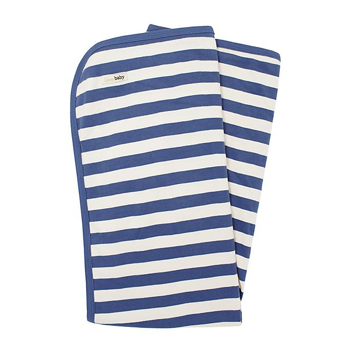 Alternate image 1 for L'ovedbaby® Organic Cotton Swaddling Blanket in Slate/Beige