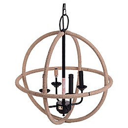 Bee & Willow™ Home Iron Jute Chandelier