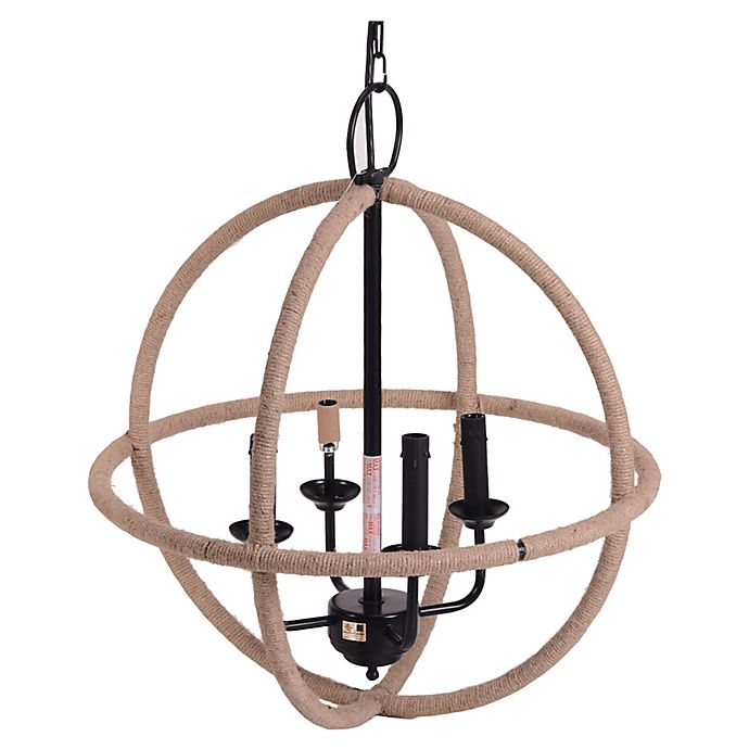 Alternate image 1 for Bee & Willow™ Home Iron Jute Chandelier