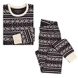 Burt's Bees Baby® Women's 2-Piece Frozen Fair Isle Organic Cotton Pajama Set