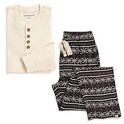 Burt's Bees Baby® Men's 2-Piece Henley Frozen Fair Isle Organic Cotton Pajama Set