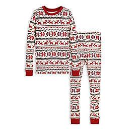 Burt's Bees Baby® Dashing Deer Fair Isle Big Kids Organic Cotton Pajama Set