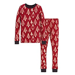 Burt's Bees Baby® Festive Forest Big Kids 2-Piece Organic Cotton Pajama Set