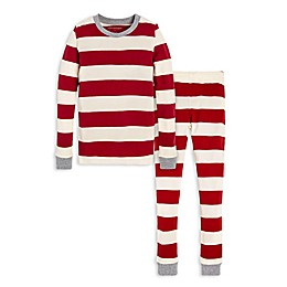 Burt's Bees Baby® Rugby Stripe Big Kids 2-Piece Organic Cotton Pajama Set