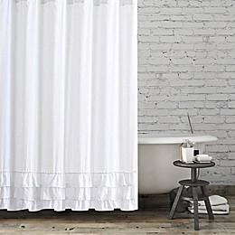 BCBG® Maxazria Ruffled Shower Curtain in White