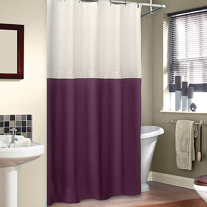 Alternate image 1 for Veratex Soho Stall Shower Curtain in Merlot