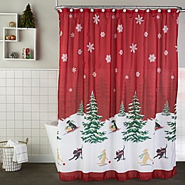 SKL Home Scenic Tree Shower Curtain and Hook Set