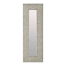 Antique Narrow Mosaic 27.75-Inch x 9.25-Inch Mirrors in Silver (Set of 3)