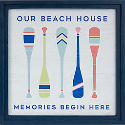 Our Beach House 22-Inch Square Framed Wall Art
