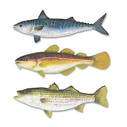 T.I. Design Ocean Fish Set 20-Inch x 21-Inch Wall Art (Set of 3)