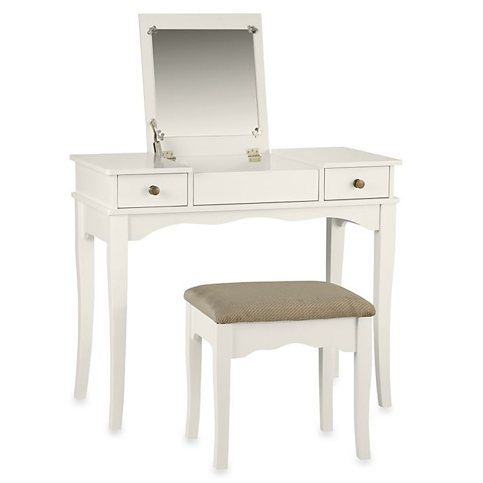 Linon Home Kendal Vanity Set In White Bed Bath Beyond