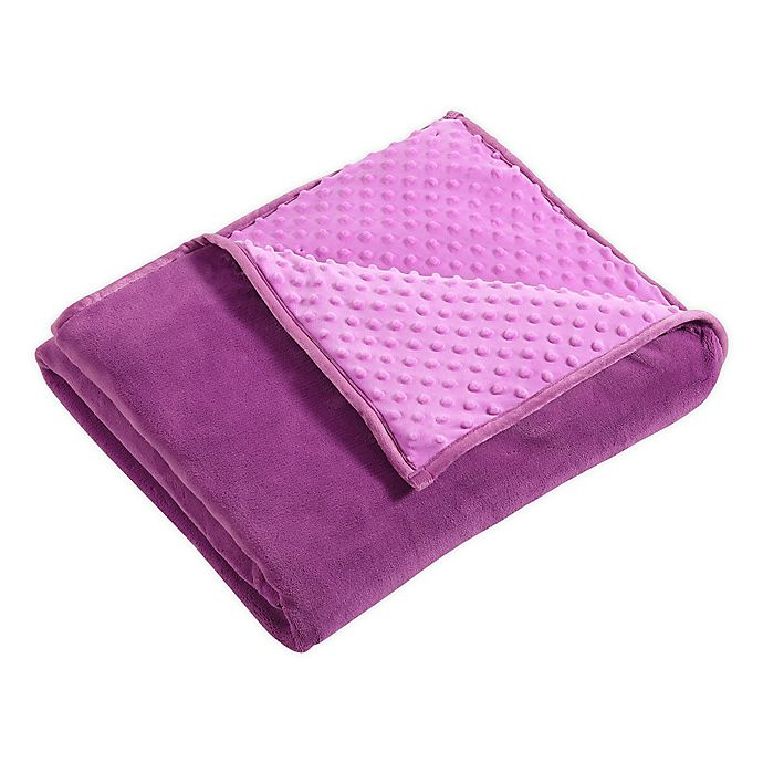 Alternate image 1 for Therapedic® Nubby Reversible 6 lb. Weighted Throw Blanket in Purple