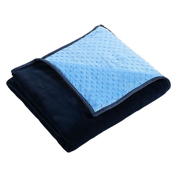 Alternate image 1 for Therapedic® Nubby Reversible 6 lb. Weighted Throw Blanket in Blue