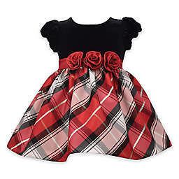 Bonnie Baby 2-Piece Tartan Plaid Dress and Panty Set in Red