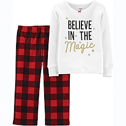 carter's® 2-Piece Christmas Magic Pajama Set in Red/White