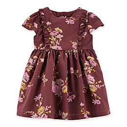 OshKosh B'gosh® Ruffle Floral Dress in Currant