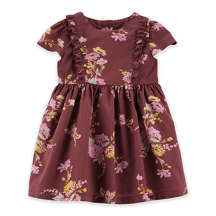 Alternate image 1 for OshKosh B'gosh® Ruffle Floral Dress in Currant