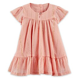 OshKosh B'gosh® Ruffle Dress in Rose Gold
