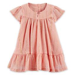 OshKosh B'gosh® Ruffle Dress in Rose Gold