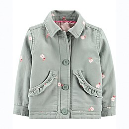 OshKosh B'gosh® Pond Floral Jacket in Sage