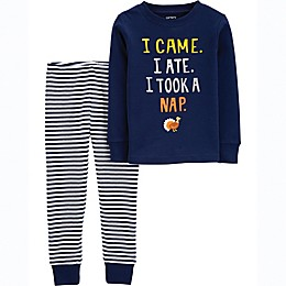 carter's® 2-Piece Thanksgiving Nap Pajama Shirt and Pant Set