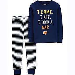 carter's® 2-Piece Thanksgiving Nap Pajama Shirt and Pant Set