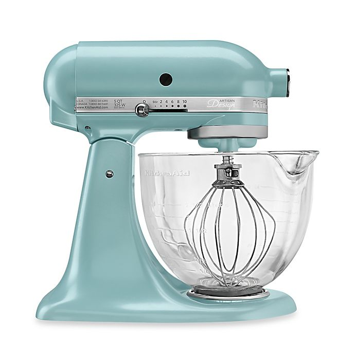 Alternate image 1 for KitchenAid® 5 qt. Artisan® Design Series Stand Mixer with Glass Bowl