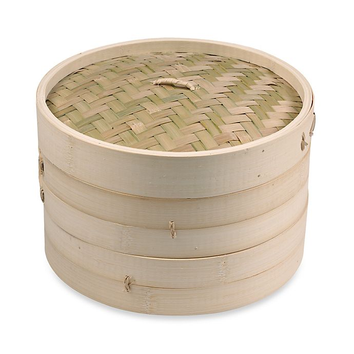 Alternate image 1 for IMUSA® 10-Inch Asian Bamboo Steamer