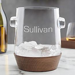 Magnus Engraved Glass Ice Bucket & Wine Chiller