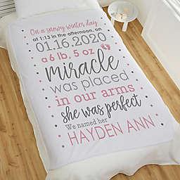 Baby Girl's Story Personalized Fleece Blanket