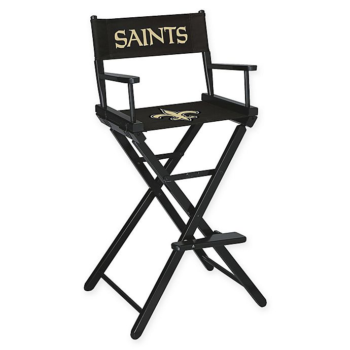 Awesome Nfl New Orleans Saints Bar Height Directors Chair Bed Bath Inzonedesignstudio Interior Chair Design Inzonedesignstudiocom