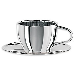 Oggi™ Stainless Steel Cup and Saucer