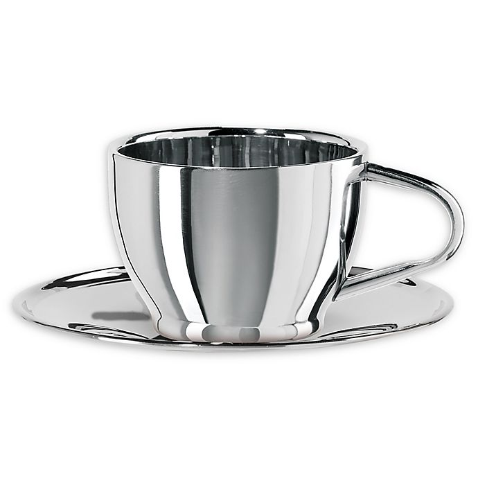 Oggi Stainless Steel Cup And Saucer Bed Bath Beyond
